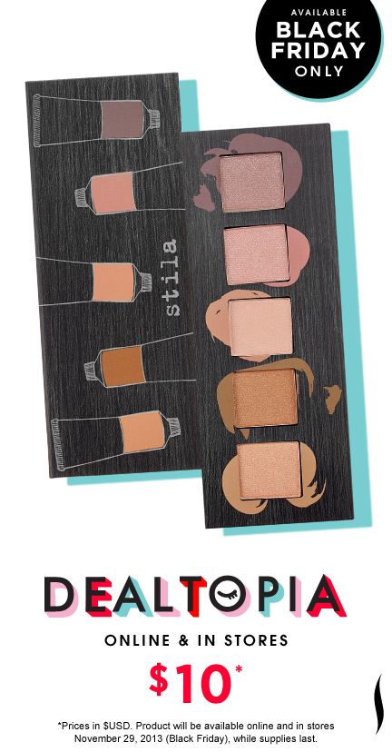 Black Friday Preview: Stila Artful Eye Collector's Edition Vol. 1 #Dealtopia #Sephora #blackfriday