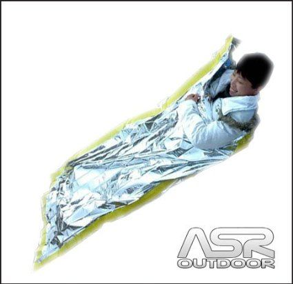 Mylar aluminized emergency first aid survival sleeping bag