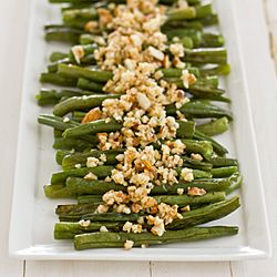 Green Beans with Lemon-Almond Pesto. Because almonds and green beans ...