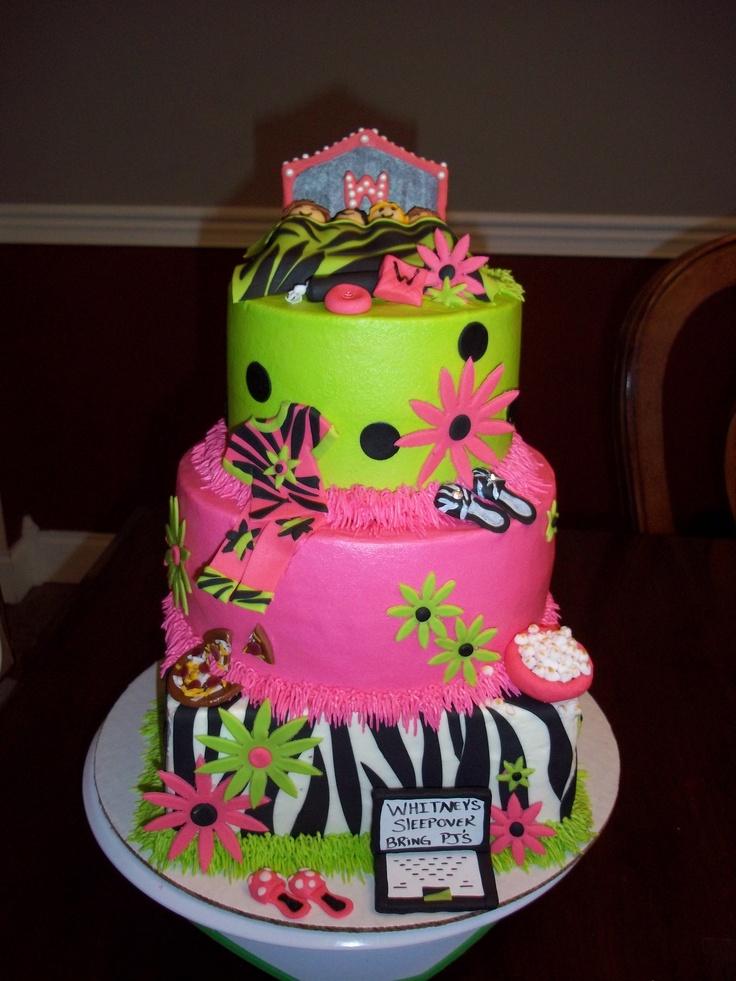 3 tier pajama party cake... Birthday Pinterest