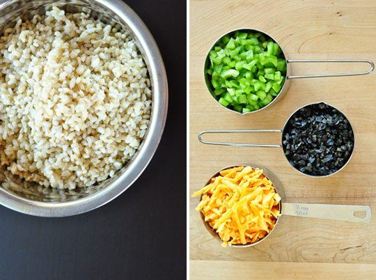 Cheesy Tex-Mex Rice with Olives and Green Peppers | Recipe