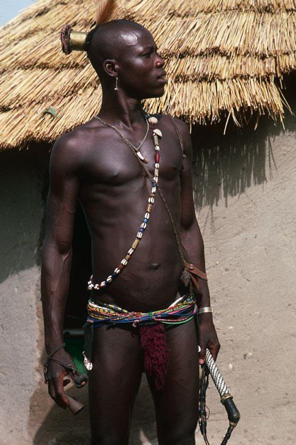 Africa | Tamberma initiate.  Northern Benin | ©Michel Renaudeau