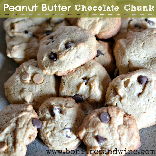 Peanut Butter Chocolate Chunk Cookies | Food for the soul... | Pinter ...