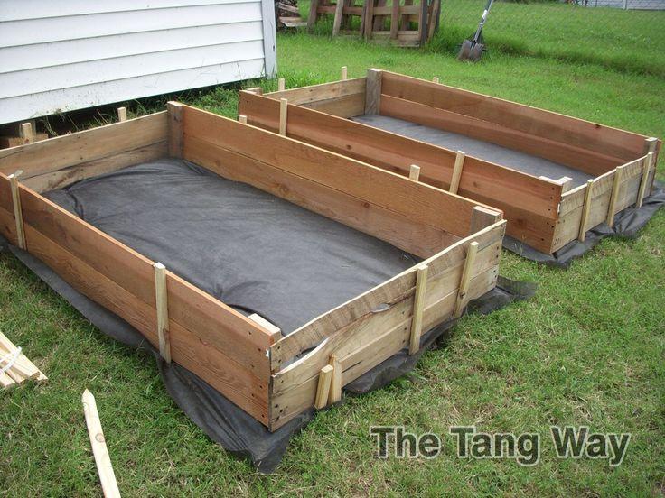 cheap raised garden bed herb garden idea pinterest. Black Bedroom Furniture Sets. Home Design Ideas