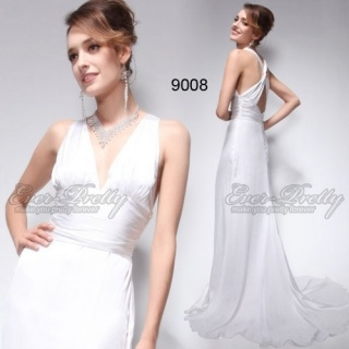 http://www.ever-pretty.com/product/elegant-white-sexy-v-neck-evening-dress.html  Elegant White Sexy V-neck Evening Dress