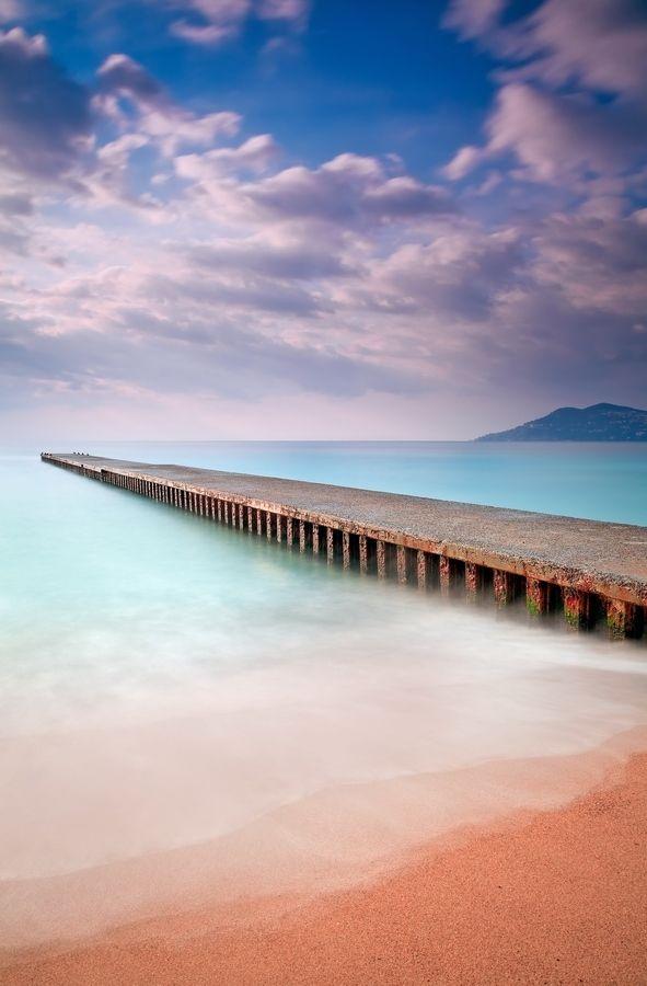 Sunrise @ Cannes La Bocca (French Riviera) by Eric Rousset, via 500px