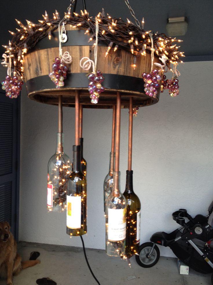 Pin by cassie wolf on wine bottles pinterest for Diy solar wine bottle lights