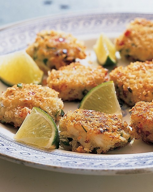Mini Asian Crab Cakes..tiny crab cakes flavored with ginger, coconut ...