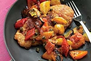 Quick, easy and tasty. Chicken cutlets in a quick pan sauce with ...