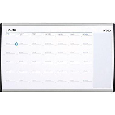Quartet® 30in. x 18in. Arc Cubicle Magnetic Dry-Erase Calendar
