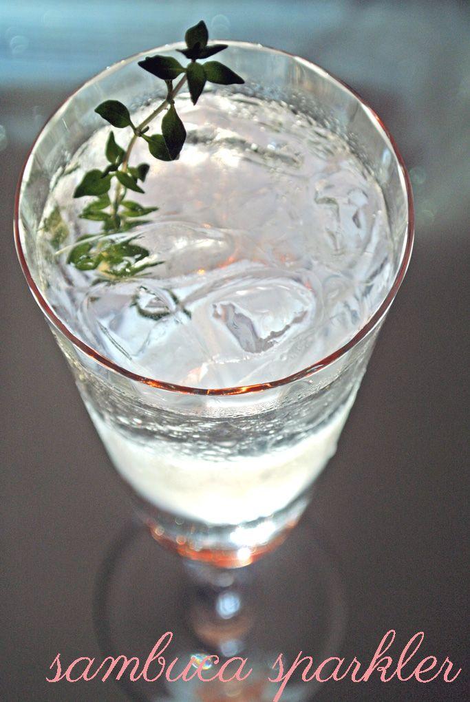 sambuca sparkler | Drinkables | Pinterest