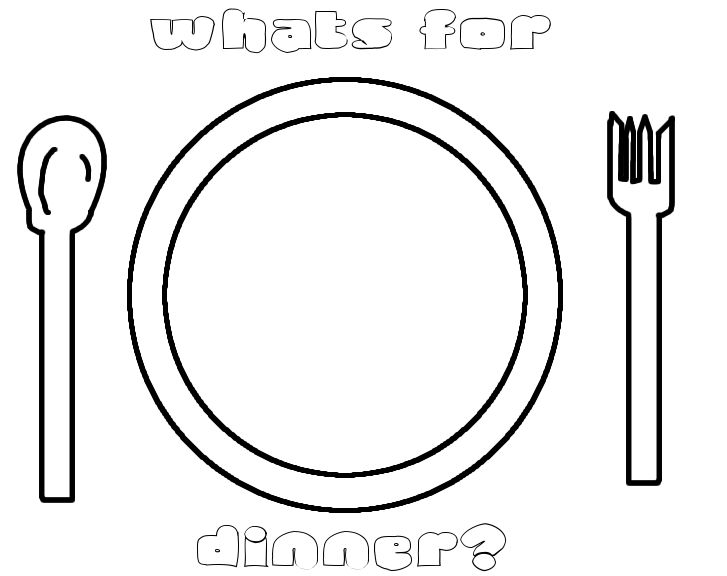 Dinner plate coloring page sketch coloring page for Dinner plate coloring page