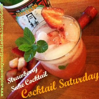 ... about a strawberry sake cocktail? #cocktailsaturday #cocktail #sake
