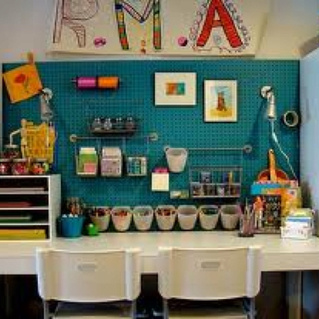 Kids' Craft Area Ideas