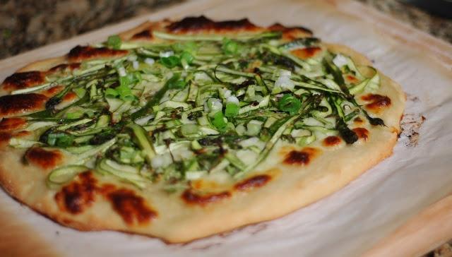Shaved Asparagus Pizza | Veg. Meals | Pinterest