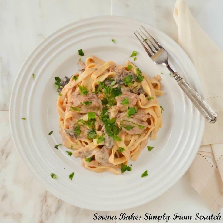Simplify & Lighten Beef Stroganoff by making in slow cooker with Greek ...