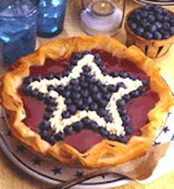 Recipe: Red, White and Blueberry Cheesecake Pie (using phyllo dough ...