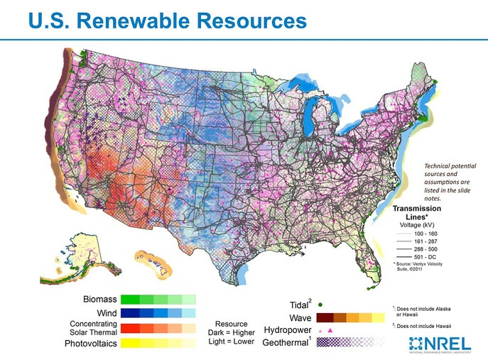 Renewable Resources. Click the link to see maps of each resource ...