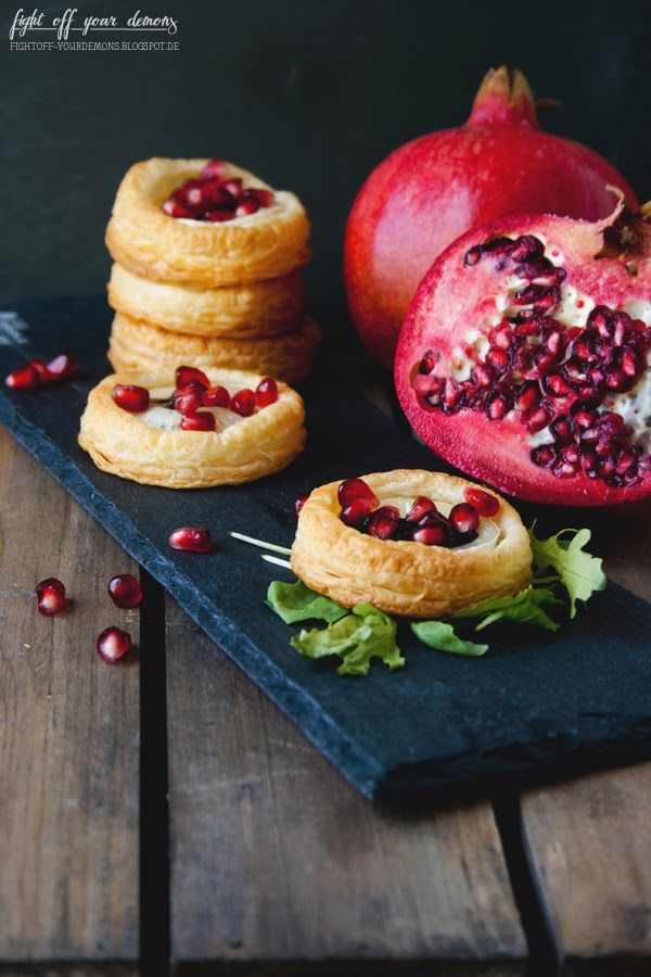Goat Cheese & Pomegranate Tartelettes | fight off your demons: Goat ...