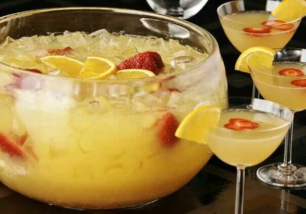 pineapple juice 2 x 285 ml dry ginger ale 750 ml sparkling white wine ...