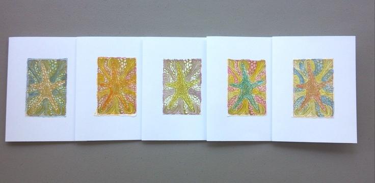 My abstract starfish design!