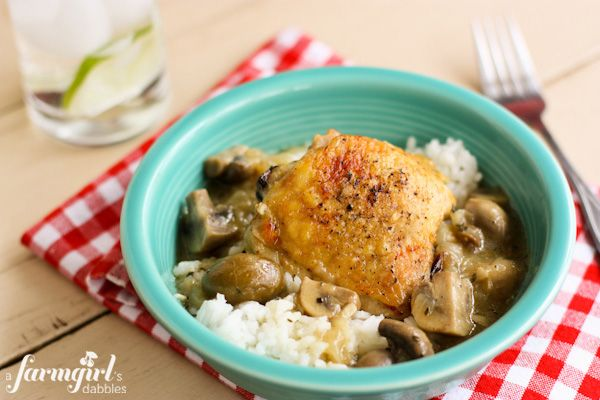 Shandy Dandy Braised Chicken with Mushrooms and Green Olives via ...