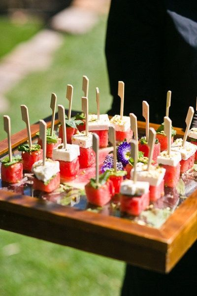 watermelon and feta skewers..wedding finger food | Food For Thought ...