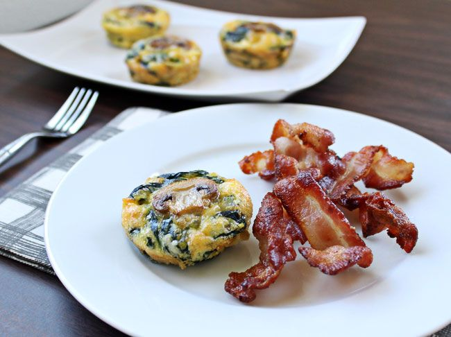Egg Cups with Mushrooms, Spinach, and Cheese are the perfect high ...