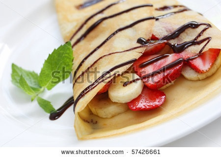 Strawberry & Banana Crepe | Yummy in my Tummy! | Pinterest