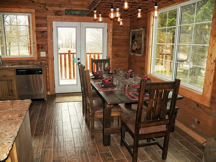 rustic dining area cabin fever pinterest