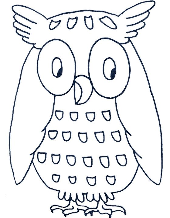 cartoon owls coloring pages - photo#23