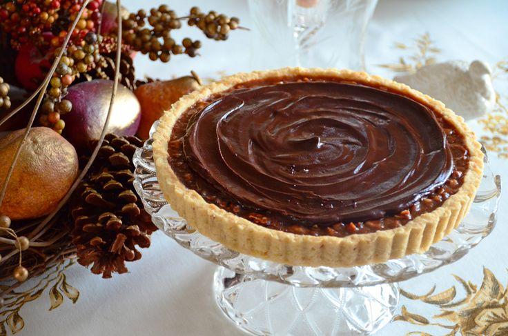 Chocolate-Caramel Pecan Tart Recipe | Maureen Abood