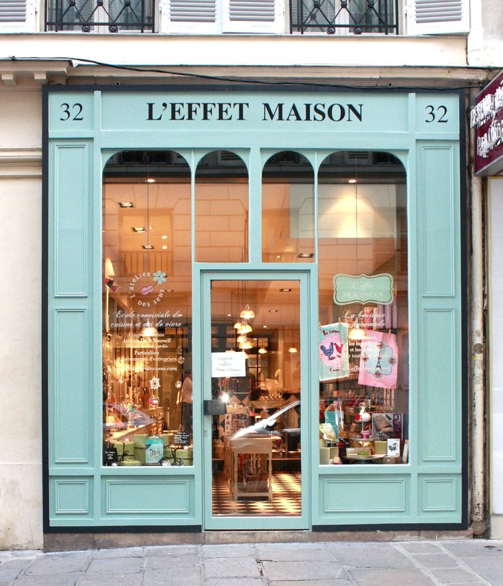 Paris has the most beautiful store fronts, enticing one to step in