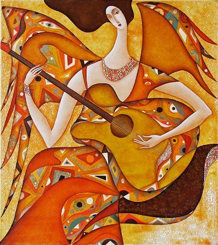 Serie Sezession: Spielender Engel  2009, Öl auf Leinwand, 90x80  Wlad Safronow  Your Art Show