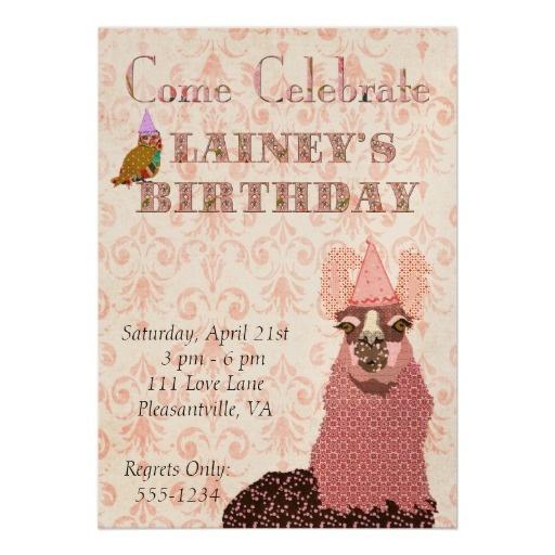 Pink Llama Birthday Invitation | Llama Baby Shower | Pinterest