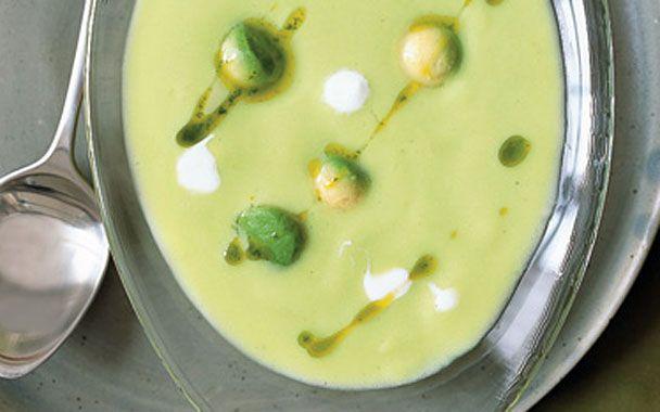 Cold Avocado Corn Soup with Cilantro Oil | Soup and Stew Recipes | Pi ...