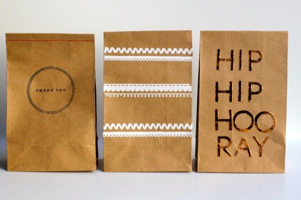 Clever party favor paper bags from @melanie blodgett at You Are My Fave. #CheckOutMyCraftMartha