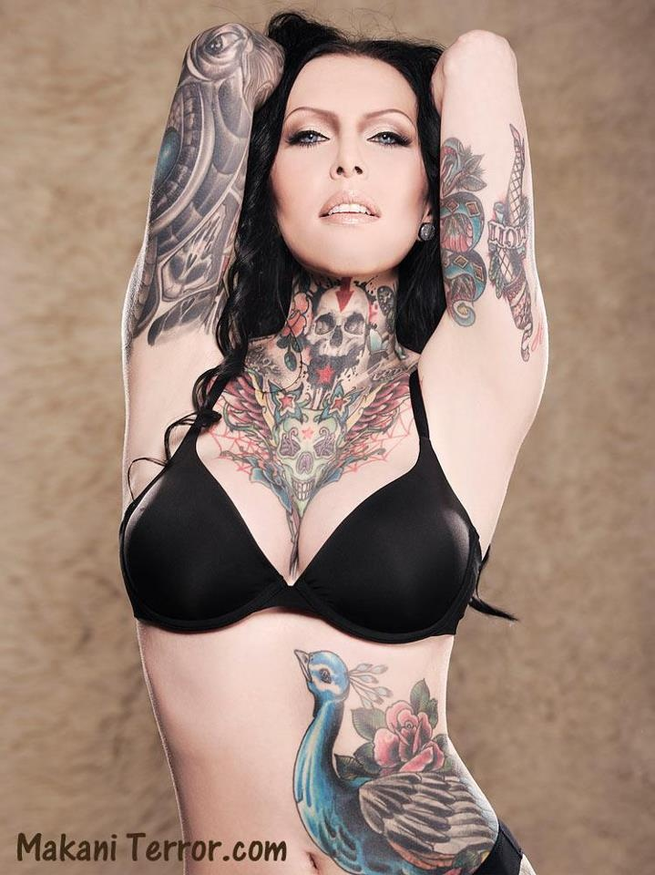 model makani terror   inked tattoo amazing tatoos