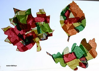 stain glass leaf craft