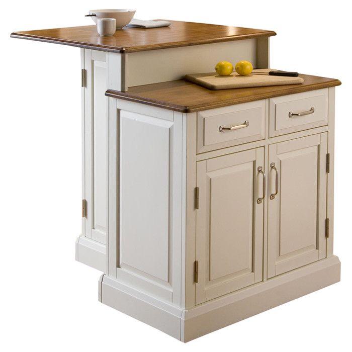 Woodbridge white two tier island kitchen remodel pinterest