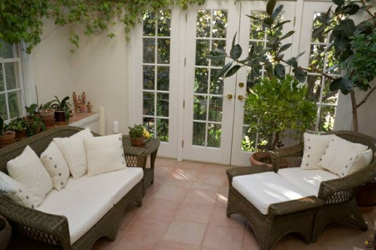 Sunroom Solarium With Wicker Furniture For The Home Pinterest
