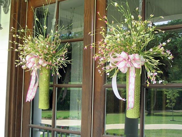 Double front door wreaths pinterest for Things to hang on front door