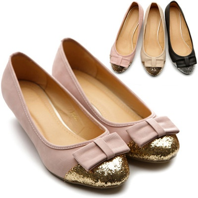 New Womens Shoes Ballet Flat Loafers Low Heels Cute Comfort Ribbon