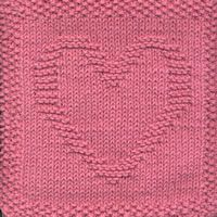 Knitting Pattern Central Dishcloths : KNITTED HEART DISHCLOTH PATTERN Free Knitting and Crochet Patterns