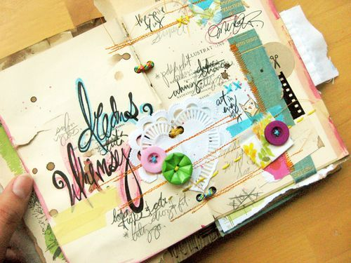 love the layers of papers and such