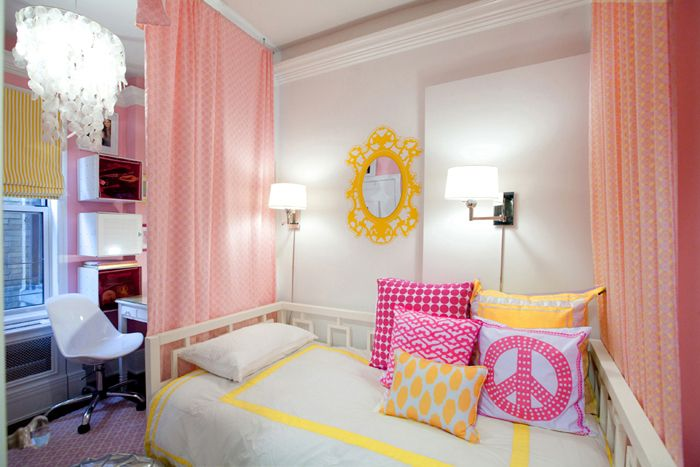 Yellow And Pink Girls Room Kids Rooms Pinterest