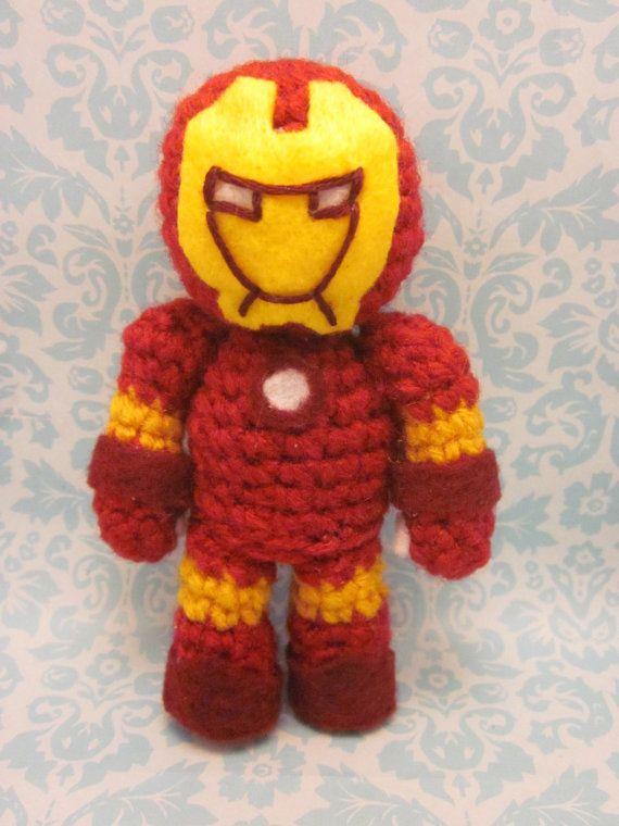 Iron Man Amigurumi Free Pattern : Iron Man/The Avengers amigurumi Amigurumis! Pinterest