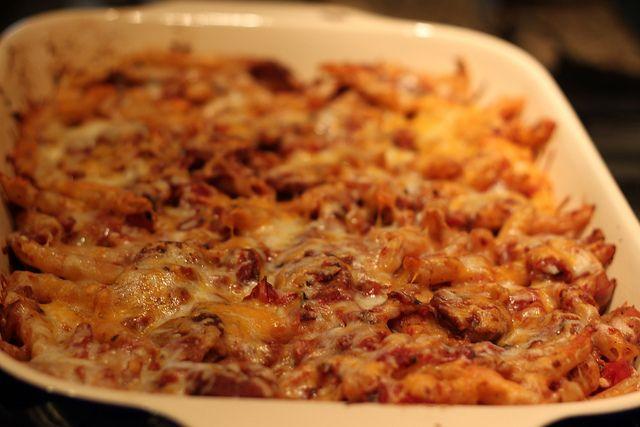 chicken sausage pasta bake Verdict: pretty good. Great weeknight meal ...