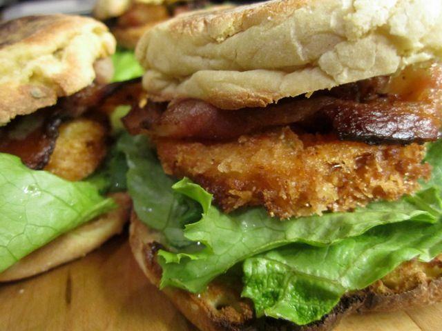 fried green tomato BLT | eat. | Pinterest