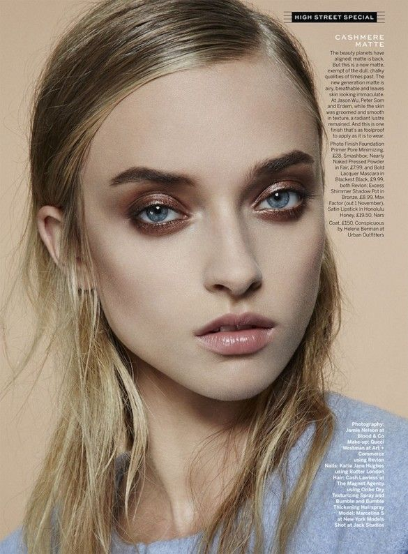 Cashmere matte makeup look // Beauty Inspiration from Stylist Magazine // Photo by Jamie Nelson